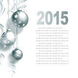 New Year Greeting Card. With Christmas balls and place for text Royalty Free Stock Photo