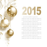 New Year Greeting Card. With Christmas balls and place for text Stock Photo
