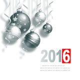 New Year Greeting Card. With Christmas balls and place for text Royalty Free Stock Photography