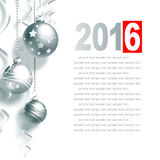 New Year Greeting Card. With Christmas balls and place for text Stock Images