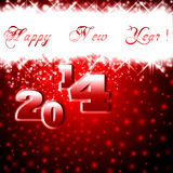 Happy New Year - 2014 colorful premise. Royalty Free Stock Image