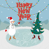 New year greeting card concept. Royalty Free Stock Photos