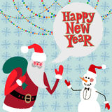 New year greeting card concept. Winter background with text stock illustration