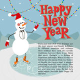 New year greeting card concept. Winter background with text Royalty Free Stock Photography