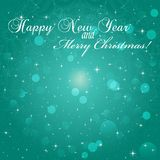 New Year greeting card. Congratulations on Christmas. Circle lace hand-drawn ornament card Stock Photo