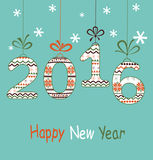 New Year  2016 greeting  card Royalty Free Stock Photo
