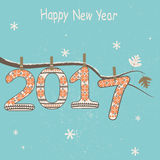 New Year  2017 greeting card. Royalty Free Stock Images