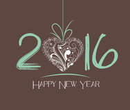 New Year 2016 greeting card Royalty Free Stock Image