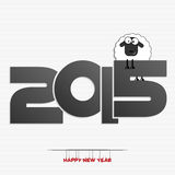 New year 2015 greeting card design Stock Photography
