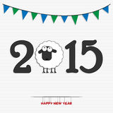 New year 2015 greeting card design Stock Photos