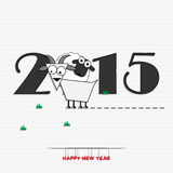 New year 2015 greeting card design Stock Photo