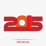 New year 2015 greeting card design. Happy new year 2015 greeting card design royalty free illustration