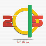 New year 2015 greeting card design Royalty Free Stock Photography