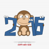 New year 2016 greeting card design Stock Photo
