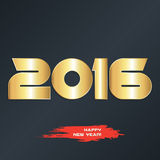New year 2016 greeting card design. Happy new year 2016 greeting card design Stock Image