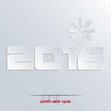 New year 2016 greeting card design. Happy new year 2016 greeting card design vector illustration