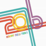 New year 2016 greeting card design. Happy new year 2016 greeting card design royalty free illustration