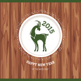 New year greeting card with goat Royalty Free Stock Photos