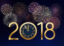 New Year Background with Fireworks Stock Image