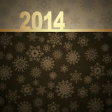 New Year greeting card. 2014 Happy New Year greeting card Royalty Free Stock Image