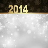 New Year greeting card. 2014 Happy New Year greeting card Stock Photography