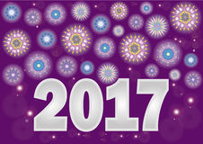 New Year. Greeting card Happy New Year 2017 Stock Images