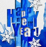 New Year greeting card. Stock Image