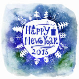 New Year Greeting Card. Happy new year lettering. Stock Photos