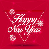 New Year Greeting Card. Happy New Year 2016, vector illustration Stock Photography