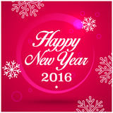 New Year Greeting Card. Happy New Year 2016, vector illustration Royalty Free Stock Photos