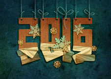New Year greeting card. Royalty Free Stock Photos