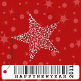 New year greeting card illustration Royalty Free Stock Photos