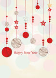 New Year greeting card Royalty Free Stock Photo