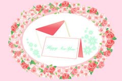New year greeting card and letter - eps10 vector Stock Photography