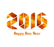 New 2016 year greeting card made in origami and geometrical style Stock Photos