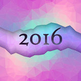 New Year greeting card made in polygonal style Stock Photos