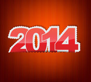 New 2014 year greeting card Royalty Free Stock Photos