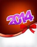 New 2014 year greeting card Stock Photos