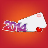 New 2014 year greeting card Royalty Free Stock Photography