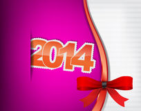 New 2014 year greeting card Royalty Free Stock Photo