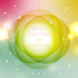 New Year 2014 Greeting Card in minimalistic style. Colorful bokeh abstract background with circles of light. Invitation with place for your text message Royalty Free Illustration