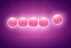 New year Greeting card. Newtons cradle balls replaced with 4 to 5 (2014 to 2015). New year greeting card design. Elements are layered separately in vector file Vector Illustration