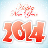 New Year Greeting Card. With 2014 number pattern, vector illustration vector illustration