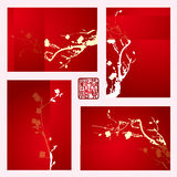 New year greeting card with the plum blossom Stock Photography