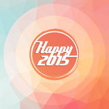 2015 new year greeting card, polygon, radial concept. Illustration background Stock Images