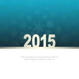 New Year Greeting Card with snowflakes Stock Photography
