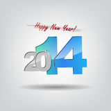 New 2014 year greeting card. With space for text. Happy new year Stock Image