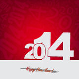 New 2014 year greeting card Stock Image