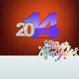 New year greeting card Royalty Free Stock Photos