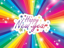 New year greeting card Stock Photos